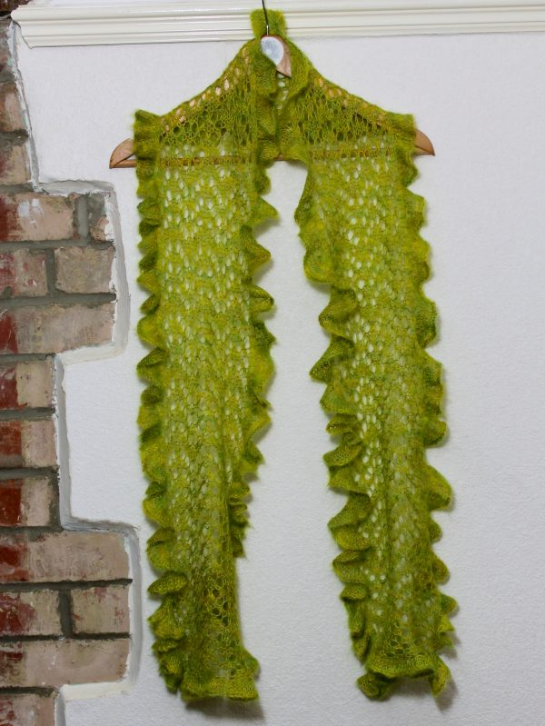 IMG 3059 600x799 - The Lace Knittery Ebbtide Straight Scarf PDF knitting pattern