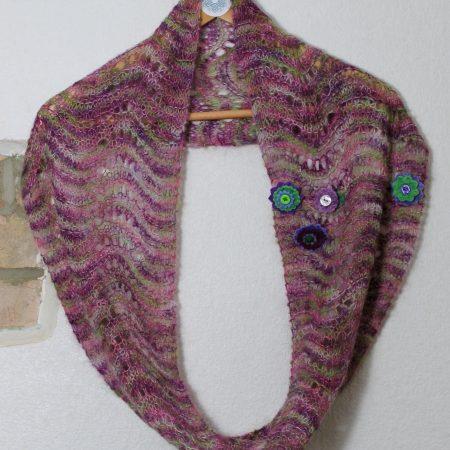 IMG 3067 450x450 - Wave Infinity Scarf PDF Knitting Pattern