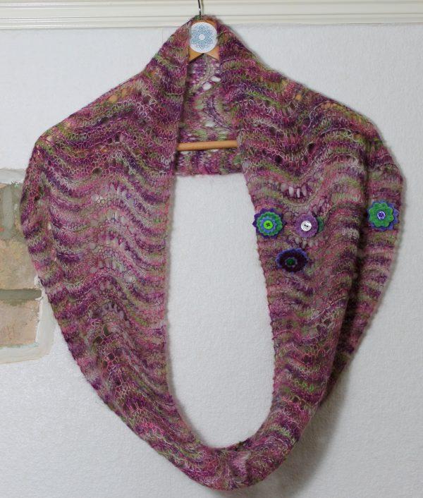 IMG 3067 600x706 - Wave Infinity Scarf PDF Knitting Pattern