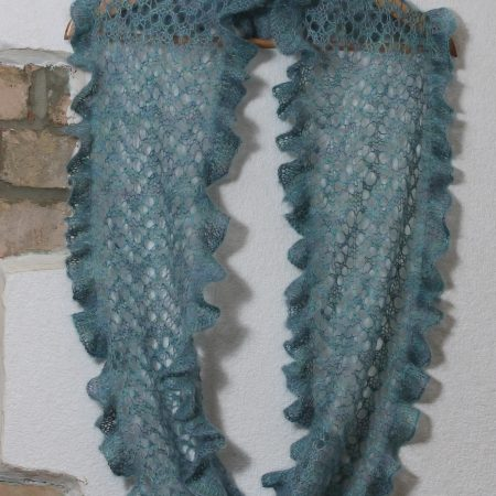 IMG 3071 450x450 - The Lace Knittery Ebbtide Mobius Scarf PDF Knitting Pattern