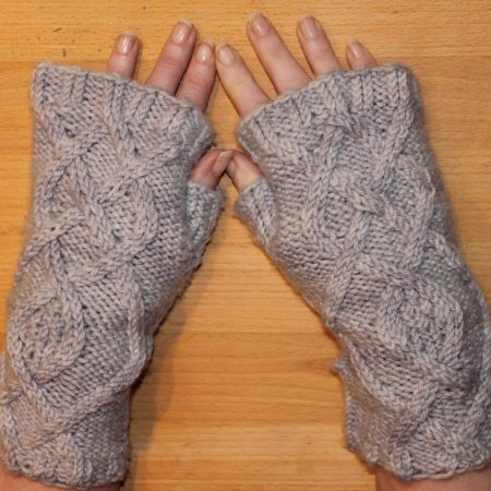 IMG 3473 450x450 - The Lace Knittery Penryn Mitts PDF knitting pattern