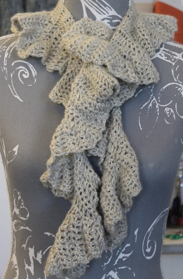 IMG 3482 600x913 - The Lace Knittery Twirly Crochet Scarf PDF Pattern