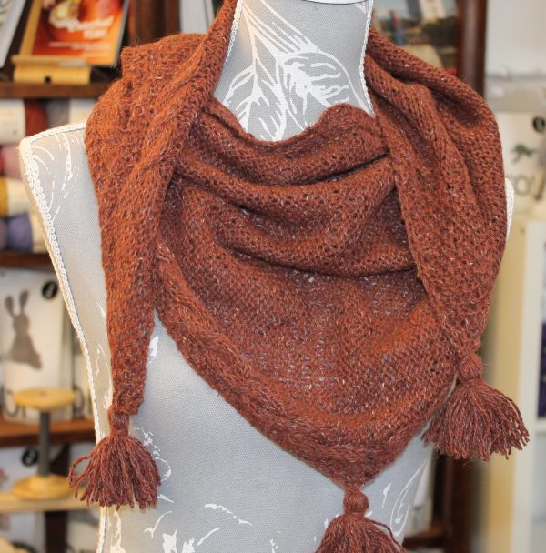 IMG 3520 600x608 - The Lace Knittery Scrumper Scarf PDF Knitting Pattern