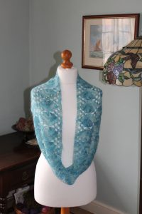 mermaid infinity scarf feb 2015 001 2016 03 29 14 01 25 UTC 200x300 - The Lace Knittery Mermaid Scarf PDF knitting pattern
