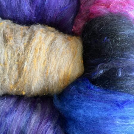 6E31B721 DE65 4DB9 83B5 5C10CBC8C7D0 450x450 - Hand blended natural fibre batts.