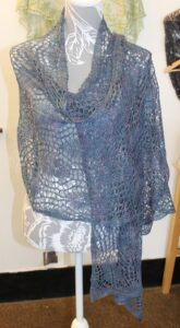 IMG 3499 165x300 - Greylake Guardian Wrap PDF knitting pattern download