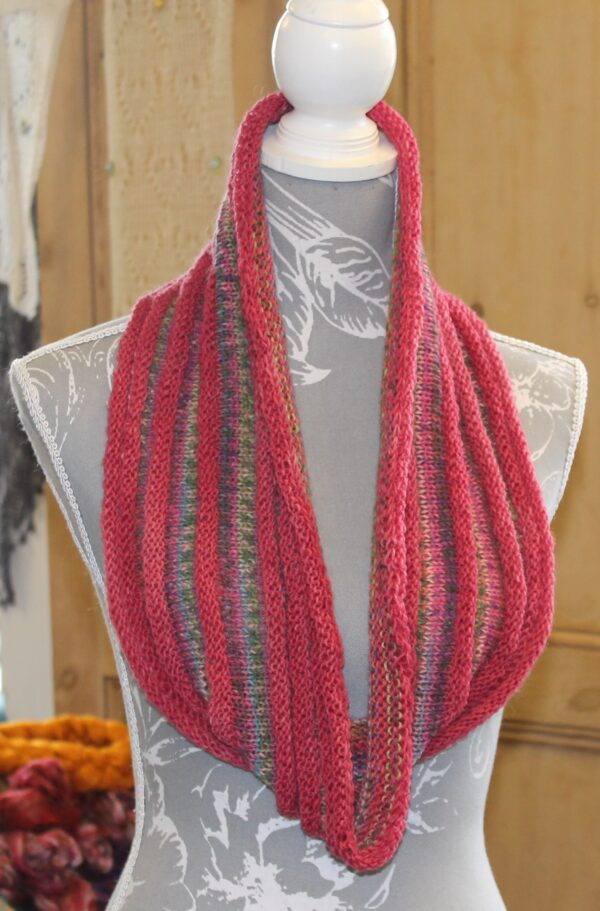 IMG 3503 600x911 - Can't Stop Cowl PDF knitting pattern download