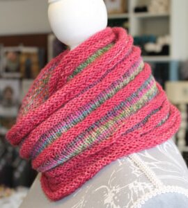IMG 3511 270x300 - Can't Stop Cowl PDF knitting pattern download